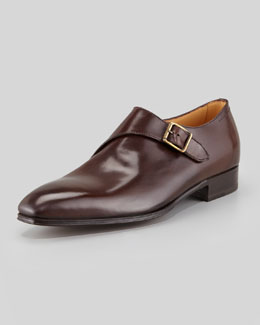 Lidfort Single-Monk Leather Dress Shoe