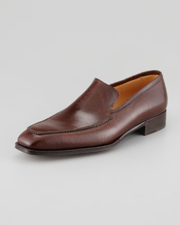 Lidfort Apron-Toe Leather Slip-On