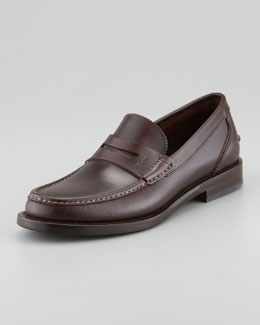 Ferragamo Titano Penny Loafer, Brown