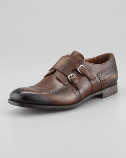 Prada Half-Brogue Double Monk Slip-On