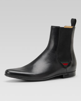 Gucci Bootie with Signature Web Detail