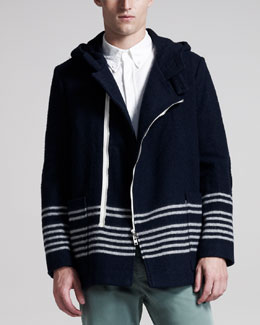 Band of Outsiders Hooded Wool Coat