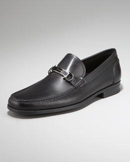 Salvatore Ferragamo Bueno Plaque Loafer