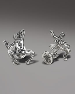 Robin Rotenier Crawling Spiderman Cuff Links