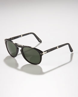 Persol Polarized Folding Sunglasses, Black