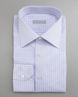Stefano Ricci Check Dress Shirt, Purple
