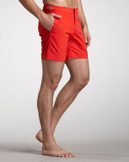 Orlebar Brown Bulldog Swim Shorts, Rescue Red