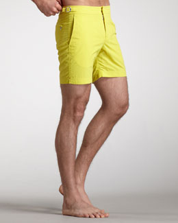 Orlebar Brown Bulldog Swim Shorts, Chartreuse