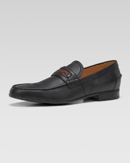 Gucci Goudin Pebbled Web Loafer