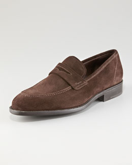 Salvatore Ferragamo Atlas Suede Penny Loafer