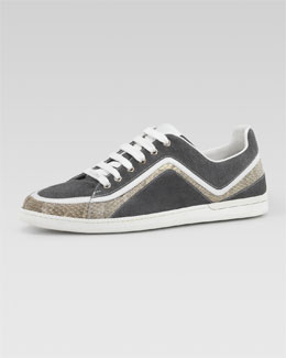 Gucci Liffey Low Zigzag Lace-Up Sneaker
