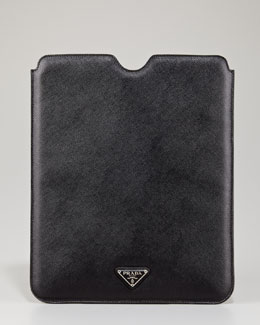 Prada Saffiano iPad Case, Black