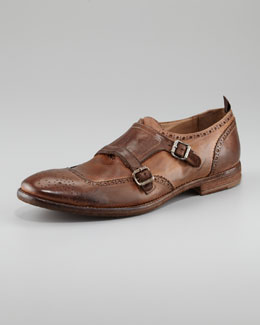 Alexander McQueen Monk-Strap Perforated Loafer