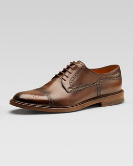 Gucci Cezanne Leather Lace-Up Derby