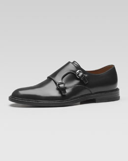 Gucci Cezanne Leather Monk-Strap