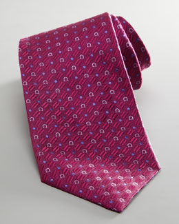 Salvatore Ferragamo Gancini Dot Tie, Purple