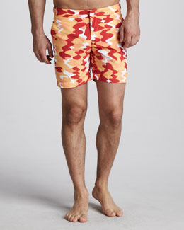 Orlebar Brown Bulldog Camo Swim Shorts, Belize/Cuban