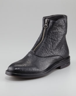Alexander McQueen Textured Zip Boot