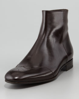 Giorgio Armani Medallion-Toe Dress Boot