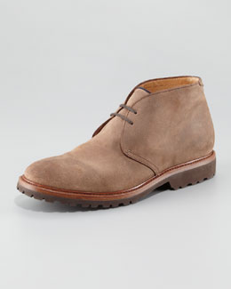 Brunello Cucinelli Aged Leather Chukka