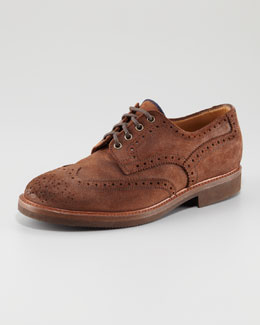 Brunello Cucinelli Suede Brogue, Brown