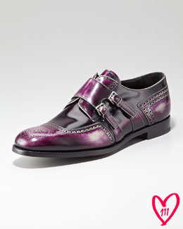 Prada BG 111th Anniversary Monk-Strap Shoe