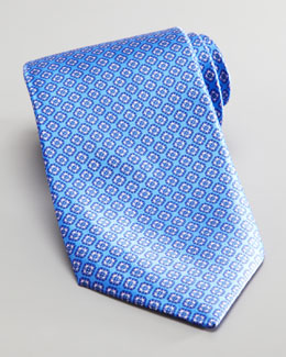 Stefano Ricci Square Silk Tie, Light Blue