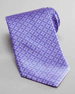Stefano Ricci Medallion Silk Tie, Purple/Blue