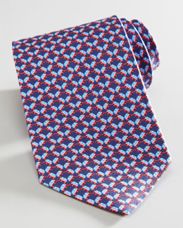 Salvatore Ferragamo Elephant Election Tie, Navy