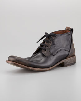 John Varvatos Bowery Etched Chukka Boot, Black Sand