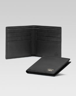 Gucci Crafty Leather Bi-Fold Wallet