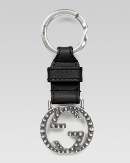 Gucci Studded Interlocking G Key Chain