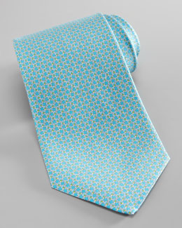 Salvatore Ferragamo Tennis Racket Silk Tie