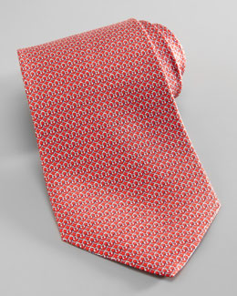Salvatore Ferragamo Gancini-Bridge Silk Tie