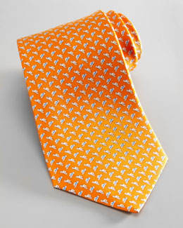 Salvatore Ferragamo Cowboy Hat Tie, Orange
