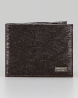Salvatore Ferragamo Revival Stamped Leather Bi-Fold Wallet