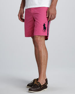 Polo Ralph Lauren Sanibel Swim Trunks, Pink/Navy