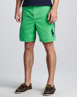 Polo Ralph Lauren Sanibel Swim Trunks, Green/Blue