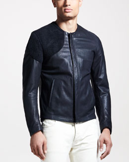 Maison Martin Margiela Two-Tone Leather Jacket