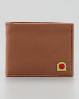 Salvatore Ferragamo Tribute Gancini Wallet, Tan