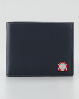 Salvatore Ferragamo Tribute Gancini Wallet, Blue