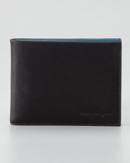 Salvatore Ferragamo Two-Tone Soft Leather Wallet