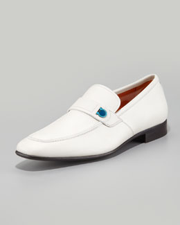 Salvatore Ferragamo Tribune Gancini Loafer, Ivory