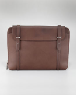 Brunello Cucinelli Leather Zip Portfolio Case