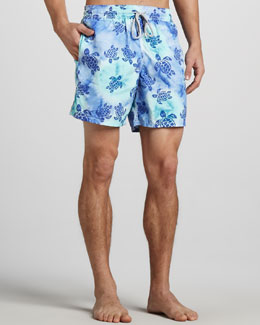 Vilebrequin Moorea Tie-Dye Turtle Swim Trunks