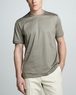 Loro Piana Crewneck Tee, Leaden Gray