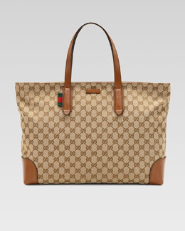 Gucci Original GG Canvas Tote, Large