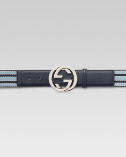 Gucci Ribbon Belt with Interlocking G Buckle
