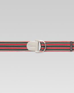 Gucci Logo-Engraved Ribbon Belt