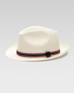 Gucci Straw Fedora Hat, Natural
